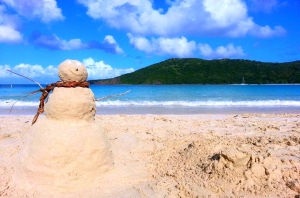 snow sand man
