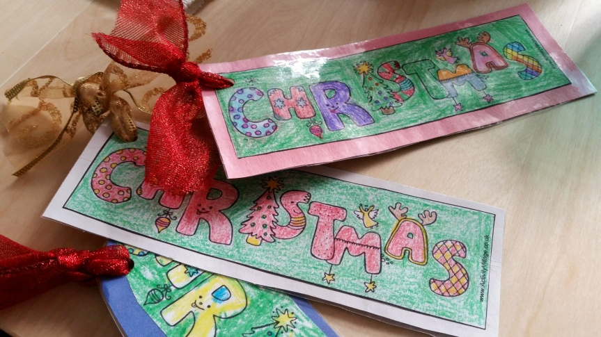 Holiday Bookmarks