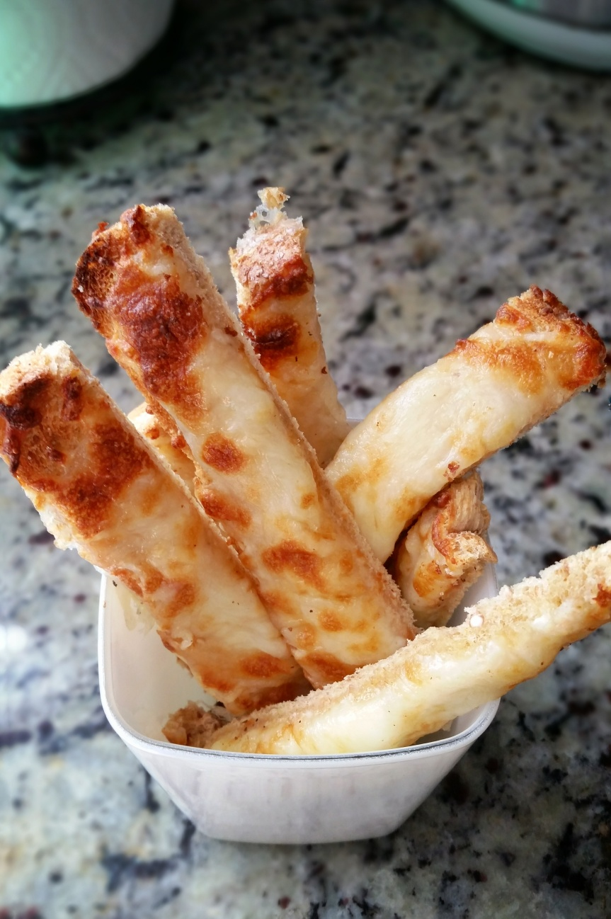 Quick Baked Cheese Sticks