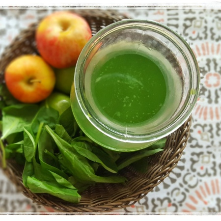 Spinach Apple Juice, Drink your veggies