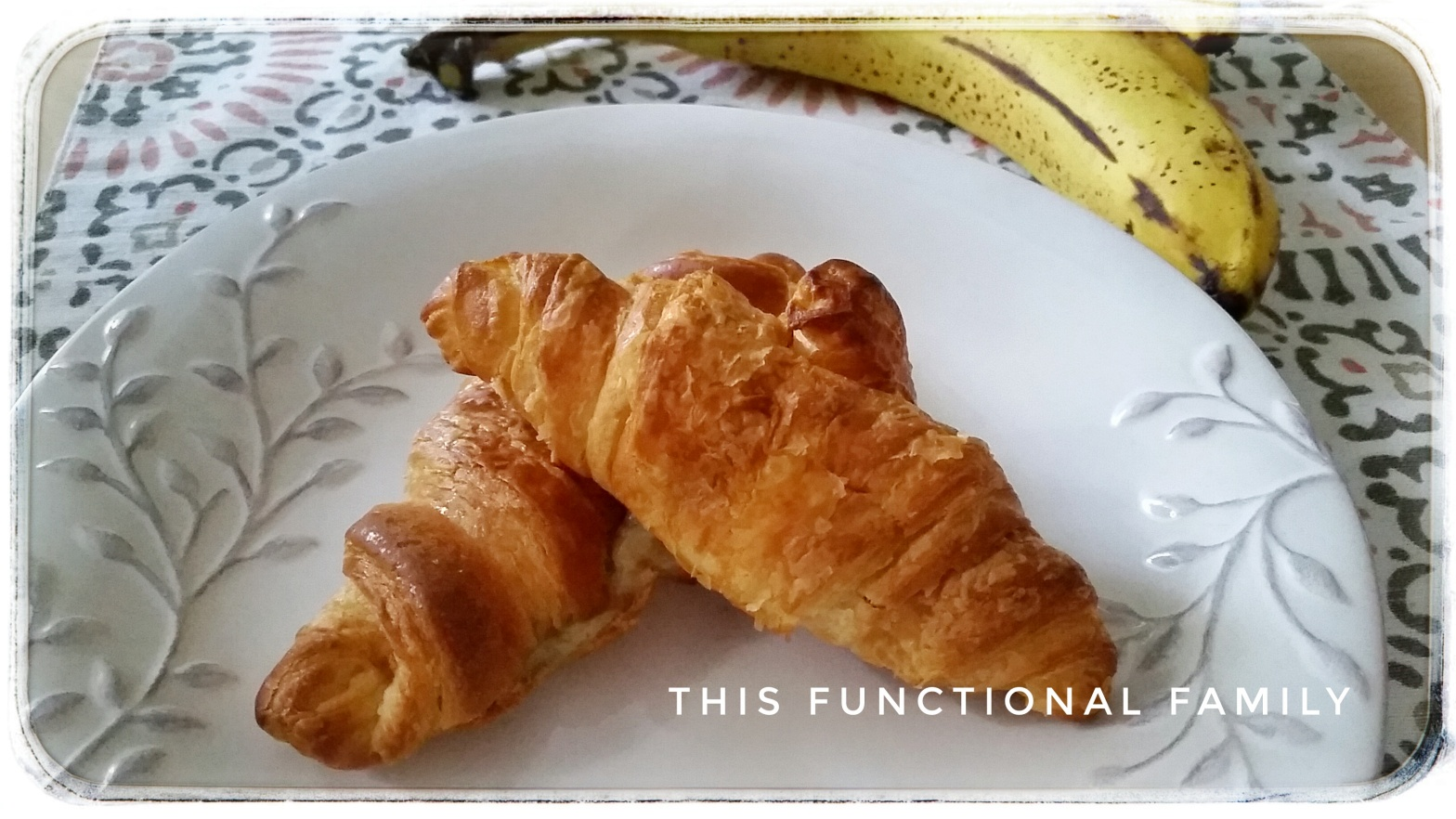 Breakfast Banana Croissants